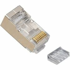 Platinum Tools 106205 RJ45 Cat6 Round-Solid 3-Prong Shielded Connector, 100 piec