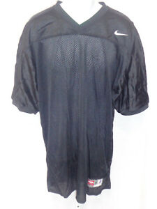 College Authentic Blank Football Jersey Youth All Black