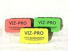 VIZ-PRO Magnetic White Board Eraser/Dry Erase Eraser, 3 Colored Eraser, 3 Piece
