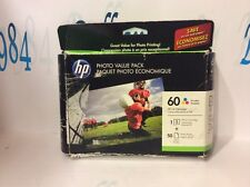 HP # 60 TRI COLOR INK CARTRIDGE.WITH 50 sheets of 4 X 6 PHOTO PAPER