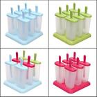 6 Cell Frozen Ice Cream Mould Popsicle Maker Lolly Tray Pan DIY Pop Mold W1J3