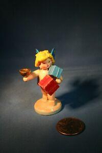 ERZGEBIRGE Steinbach Angel with Gifts Germany Christmas Figurine 1940s