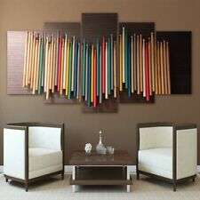 Colorful Drum Sticks Collection Music 5 pieces Canvas Wall Poster Home Decor