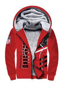 Tampa Bay Buccaneers Football Hoodie Warm Fleece Sweatshirt Winter Hooded Jacket
