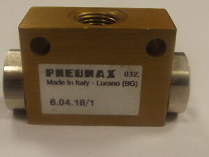 Pneumax 6.04.18/1 Shuttle Valve 1/8 Bsp , Pneumax Series 600 - And Valve