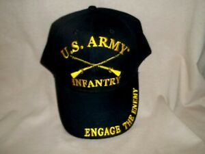 Army Infantry with Rifles 100% Cotton Ball Cap