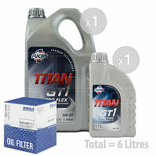 Engine Oil and Filter Service Kit 6 LITRES Fuchs GT1 PROFLEX XTL 5w-30 6L