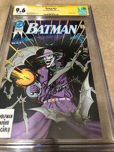 Batman 451 CGC 9.6 SS Marv Wolfman signed Norm Breyfogle Joker Cover 1990