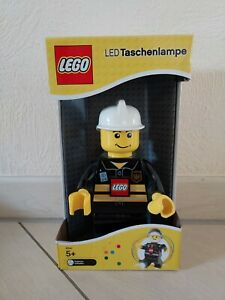 Lego LED Taschenlampe, Feuerwehr, Feuerwehrmann, OVP, voll funktionsfähig