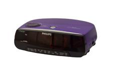 Philips AJ3198 Radio Alarm Clock Purple Fm Am Radio Bedroom Decor