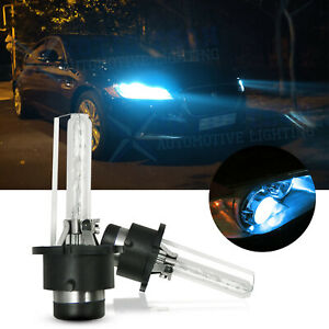 2x D2S 10000K HID Xenon Replacement Low/High Beam Headlight Lamp Bulbs Blue 70W