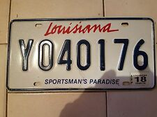 Plaque d immatriculation Louisiana Y040176 USA US License Plate