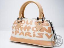 Sale! AUTH PRE-OWNED LOUIS VUITTON GRAFFITI BEIGE ALMA PM TOTE BAG M92178 160572