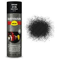 x9 Industrial Rust-Oleum Satin Black Aerosol Spray Paint Hard Hat 500ml RAL 9005