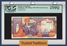 Tt Pk R10 1990 Somalia 1000 Shilin = 1000 Shillings Pcgs 67 Ppq Finest Known
