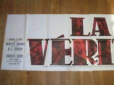 RARE AFFICHE BRIGITTE BARDOT / LA VERITE / 80 x 240 / EXCELLENT ETAT