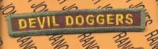 """759th Armored """"DEVIL DOGGERS"""" TANK TAB patch"""