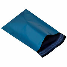 """100 BLUE Mailing Postage Parcel Post Bags 12"""" x 16"""" Self Seal 305x406mm Metallic"""
