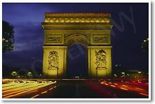 Arc de Triomphe, Paris France - NEW Time Lapse European Travel Artwork POSTER