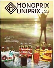 PUBLICITE  1970  MAGAISINS MONOPRIX UNIPRIX
