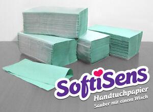10.000 Blatt Handtuchpapier Papierhandtücher 25x23cm grün