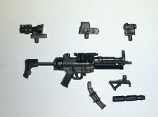 "PAINTED ""Modular"" SWAT Machine Gun -1:18 Scale Weapon for 3-3/4"" Action Figures"