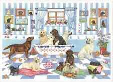 Labrador Retriever dog Watercolor /Ink painting print  26  Dogs