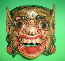 Mask Bali Raksasa BROWN or WHITE Gargoyle Demon Hand carved Medium 11 x 11 inch