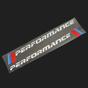 BMW M Performance Sticker Power Decal Cover Emblem Logo Decoration 2 PCS TOP