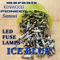 10 New Ice Blue 8V Fuse Lamp LED Light Bulbs for Marantz Sansui Pioneer Kenwood