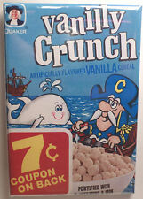 "Cap'n Crunch Vanilly Crunch Vintage Cereal Box 2""x3"" Fridge or Locker MAGNET #2"