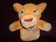 "Lion King Simba Cub Hand Puppet exclusive walt disney company 9"" tall"