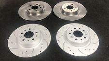 ALFA ROMEO 147 156 164 TD JTD FRONT REAR DRILLED CURVED GROOVED BRAKE DISCS