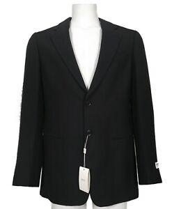 NEW Giorgio Armani Collezioni Sportcoat!  40 R  Black with Navy Design  *ITALY*
