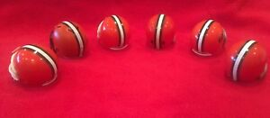 Lot of 6 Riddell pocket pro helmets Cleveland Browns 6 different variations!