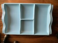 Vintage retro Poole pottery hors d'oeuvres nibbles platter tray dish (C4)