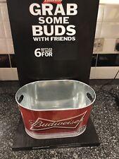 Budweiser Bucket Display Stand Pub Shed Bar Man Cave