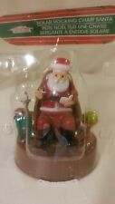 2016 Solar Powered Dancing Rocking Chair Santa Christmas Holiday Figure Figurine