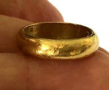 24K 9999 Kim-HGOG Pure Gold Wedding Band 4.7mm Ladies Ring Size 4.5