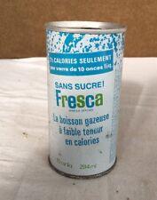 RARE Fresca 10oz Empty Can Toronto Canada Coca Cola