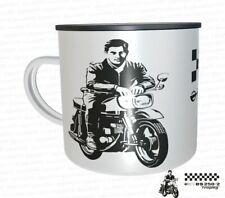 Emaille tasse 12oz Blech weiß IFA MZ GS Simson MZ Motocross GST DDR Oldtimer