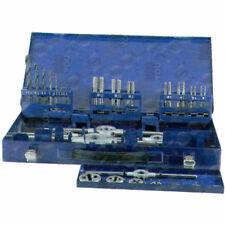 Set maschi e filiere a mano HSS passo FINE MB 35 pezzi con accessori