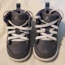 Nike Jordan 1 Mid Flex Youth Toddler Boys Shoe Gray Sz 4C Child 640735-022