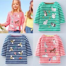 NEW IN!! Mini Boden Girls Long Sleeve Breton Applique Tops Age 1-12Yrs