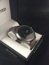 Kenneth Cole Unlisted Men's Analog Black Grey Leather Band Watch UL1265