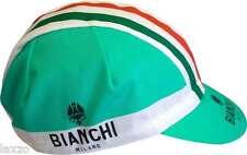 Nalini Bianchi Milano Neon Celeste Cotton Cycling cap Retro fixie Made In Italy