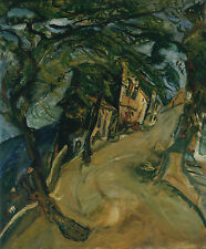 Soutine Chaim The Road Up The Hill Canvas 16 x 20   #5329