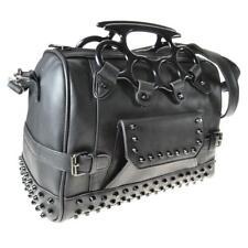 Vixxsin Punk Kasy Brass Knuckles Studs Top Handle Bag Goth Day Shoulder Strap