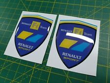 Renault Megane Sport 225 F1 Team 80mm Wing Badges Decals Stickers styling