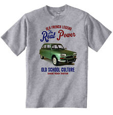 Vintage Francés coche Citroen Ami 8-Nuevo Algodón Camiseta